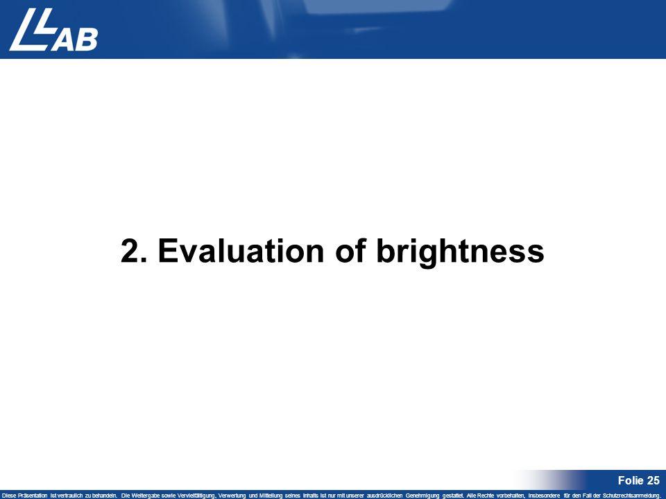 Folie 25 Diese Präsentation ist vertraulich zu behandeln. Die Weitergabe sowie Vervielfältigung, Verwertung und Mitteilung seines Inhalts ist nur mit