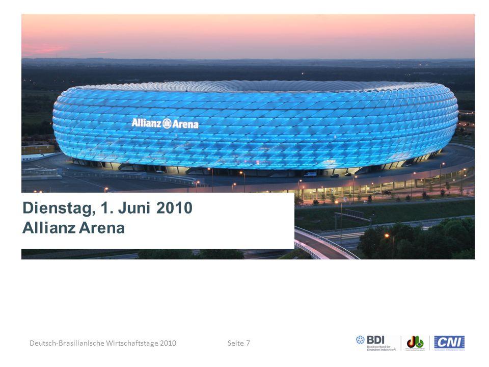 Deutsch-Brasilianische Wirtschaftstage 2010Seite 7 Dienstag, 1. Juni 2010 Allianz Arena