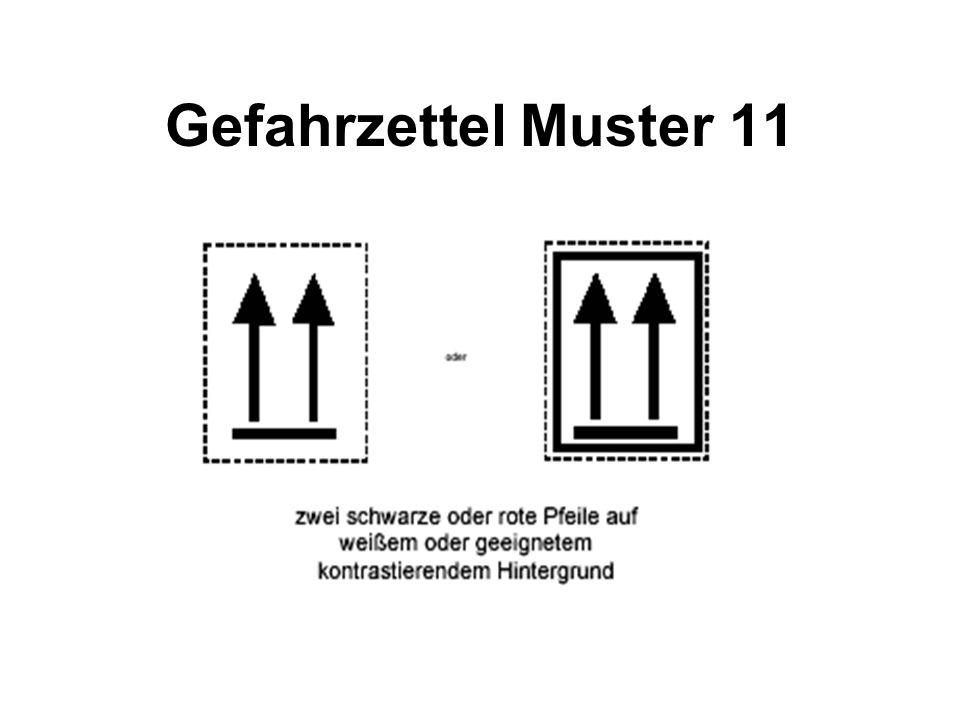 Gefahrzettel Muster 11