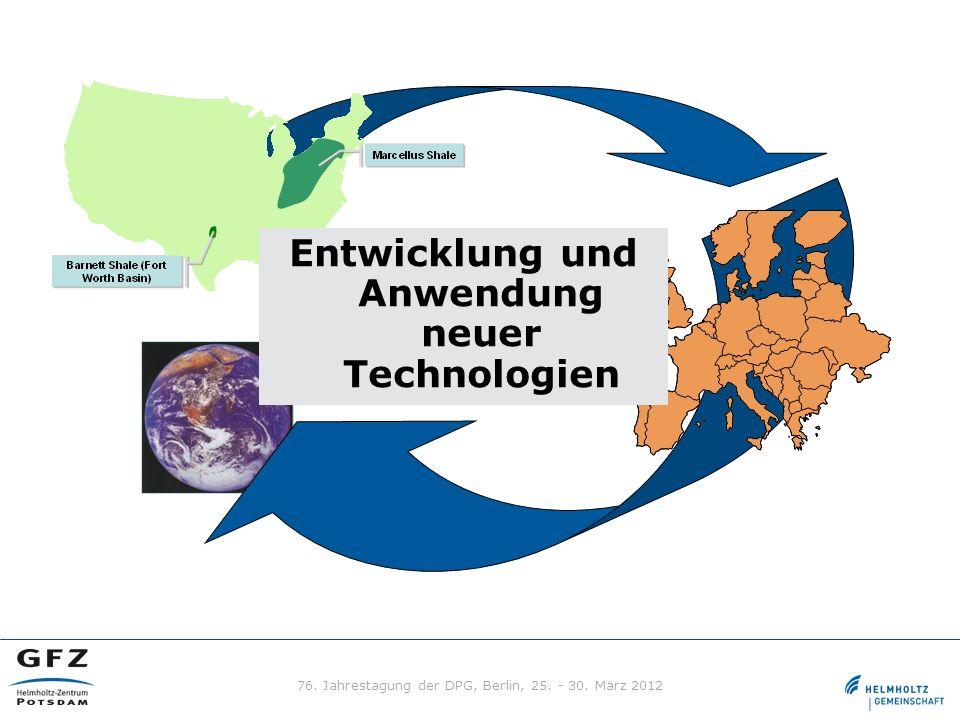 Entwicklung und Anwendung neuer Technologien 76. Jahrestagung der DPG, Berlin, 25. - 30. März 2012