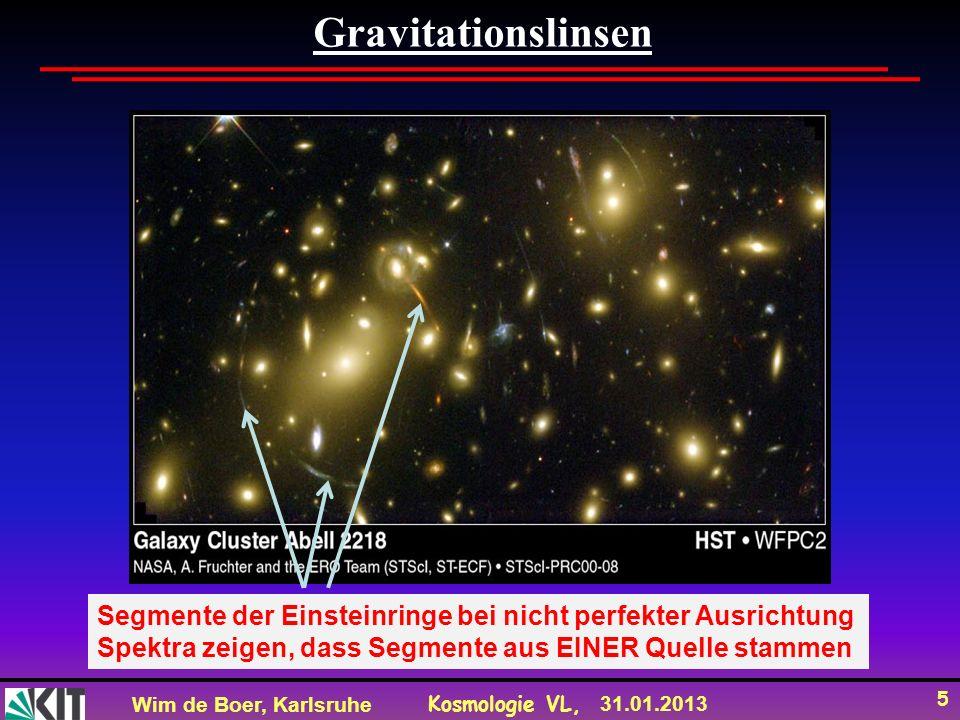 Wim de Boer, Karlsruhe Kosmologie VL, 31.01.2013 16 Direkter Nachweis von WIMPs Für Neutralinomassen von ca.