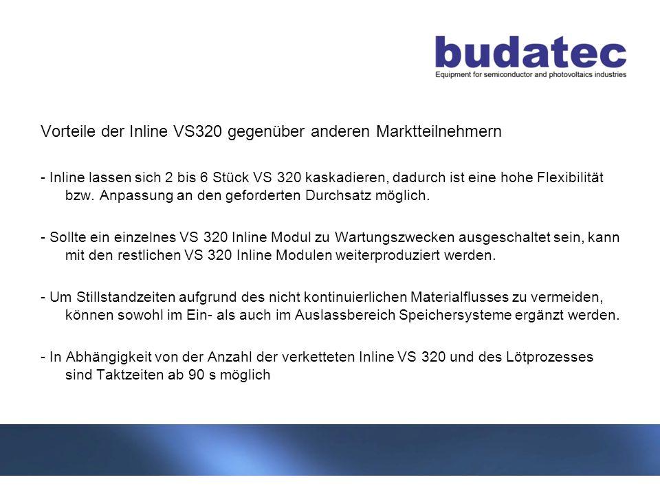 11 Stand 04-2013 Vorteile der Inline VS320 gegenüber anderen Marktteilnehmern - Inline lassen sich 2 bis 6 Stück VS 320 kaskadieren, dadurch ist eine