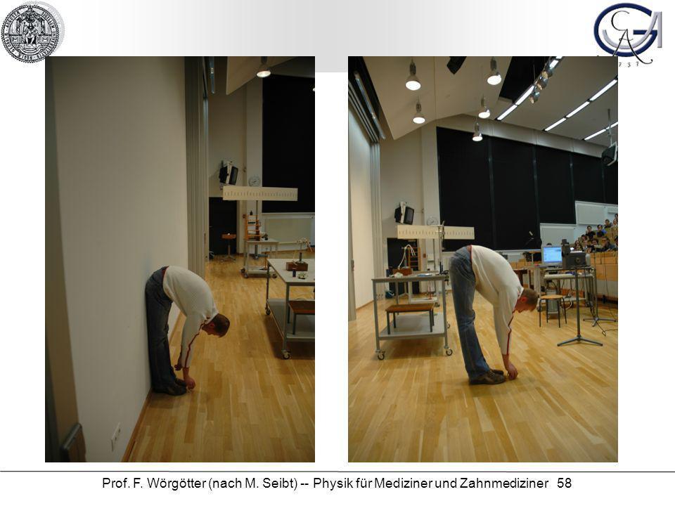 Prof. F. Wörgötter (nach M. Seibt) -- Physik für Mediziner und Zahnmediziner 58