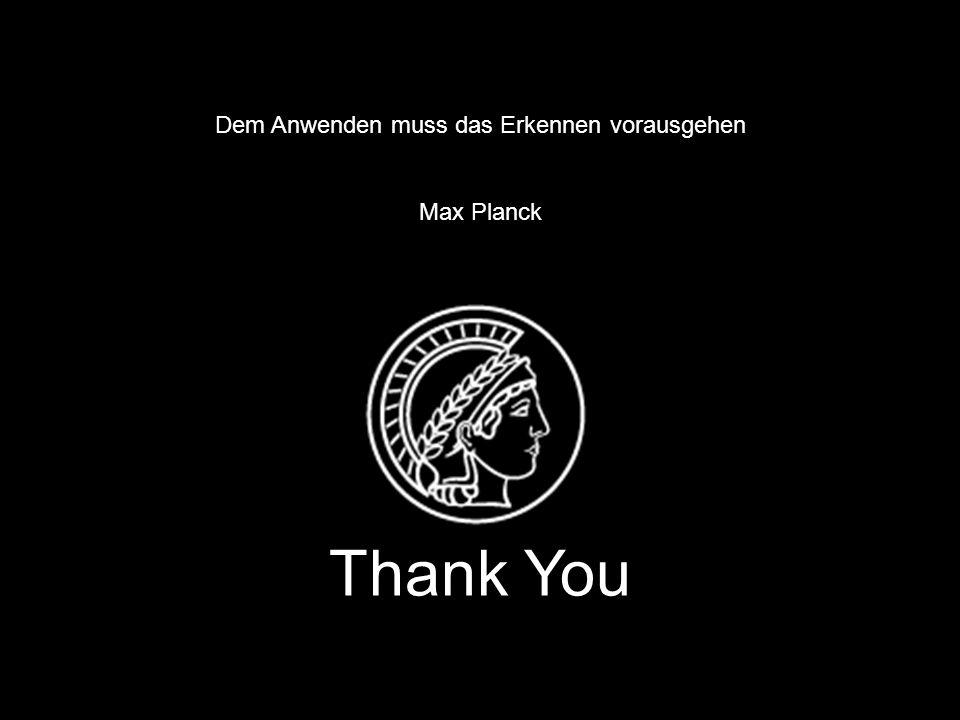 www. fhi-berlin.mpg.de www. cec.mpg.de 22 Dem Anwenden muss das Erkennen vorausgehen Max Planck Thank You Dem Anwenden muss das Erkennen vorausgehen M