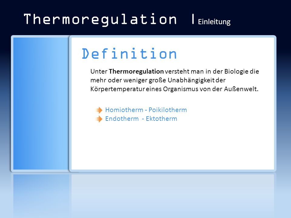 Thermoregulation | Regulationsmechanismen Wärmebildung - Muskelanspannung - Arbeit - Kältezittern