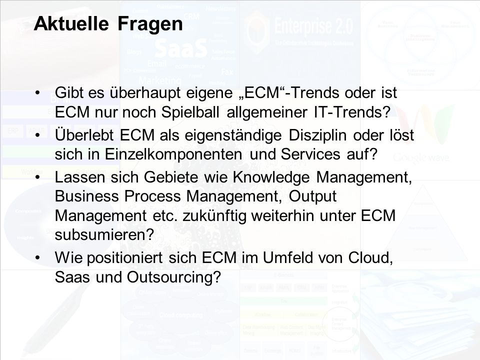 23 EIM Update und Trends 2010 Dr.Ulrich Kampffmeyer PROJECT CONSULT Unternehmensberatung Dr.