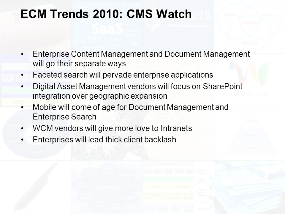 37 EIM Update und Trends 2010 Dr.Ulrich Kampffmeyer PROJECT CONSULT Unternehmensberatung Dr.