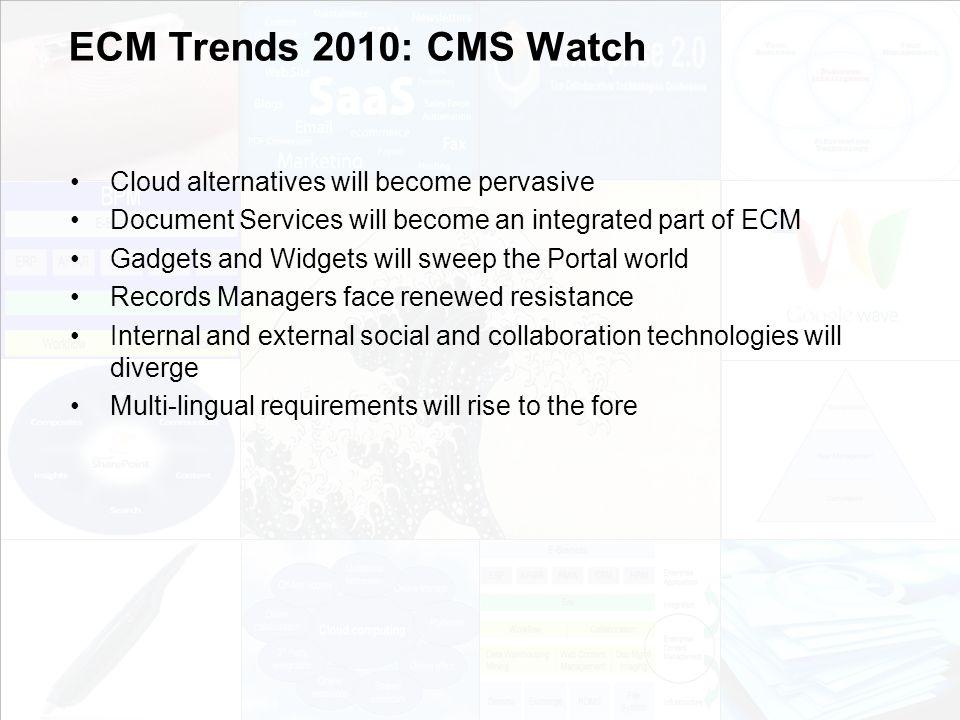 108 EIM Update und Trends 2010 Dr.Ulrich Kampffmeyer PROJECT CONSULT Unternehmensberatung Dr.