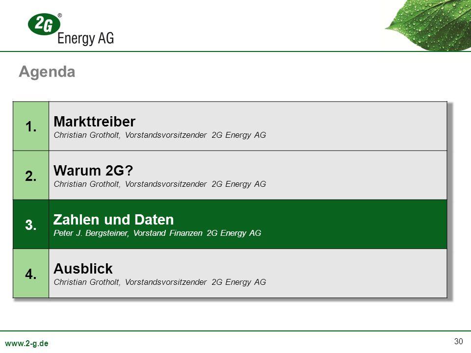 30 www.2-g.de Agenda