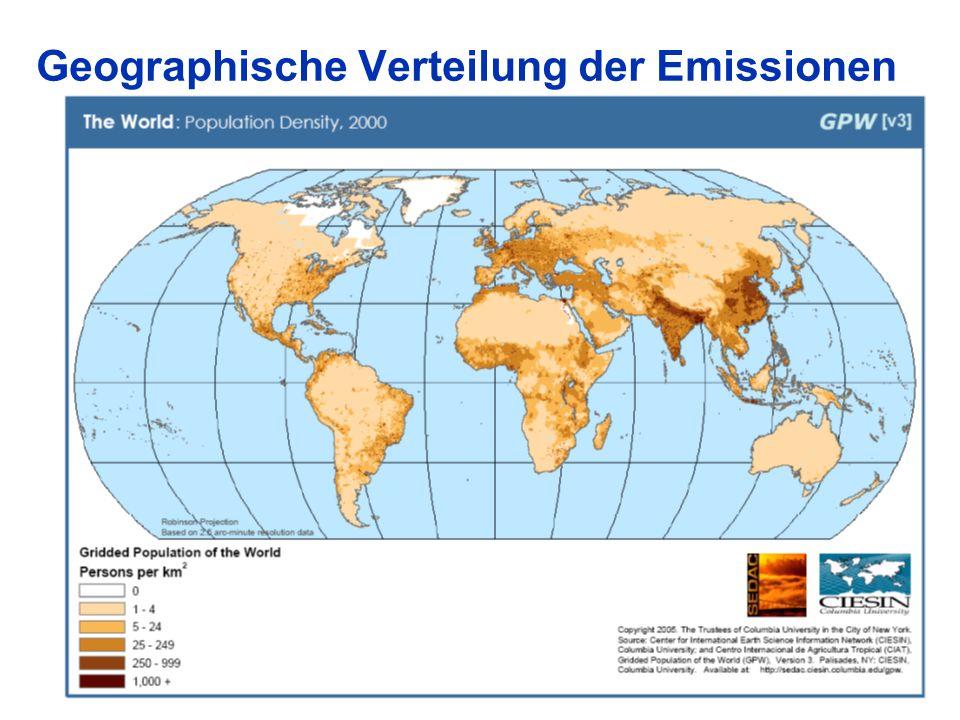 Geographische Verteilung der Emissionen