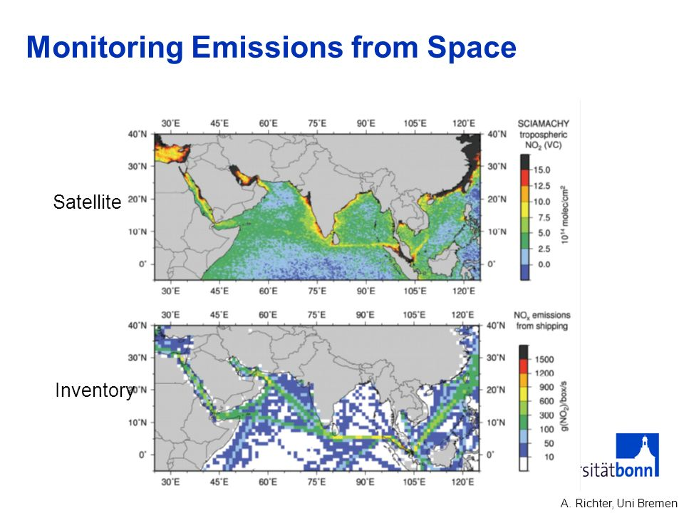 Monitoring Emissions from Space A. Richter, Uni Bremen Satellite Inventory