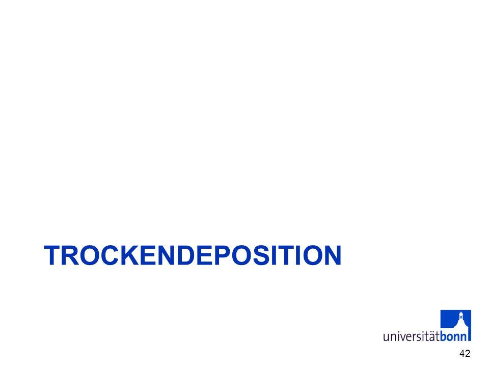 TROCKENDEPOSITION 42
