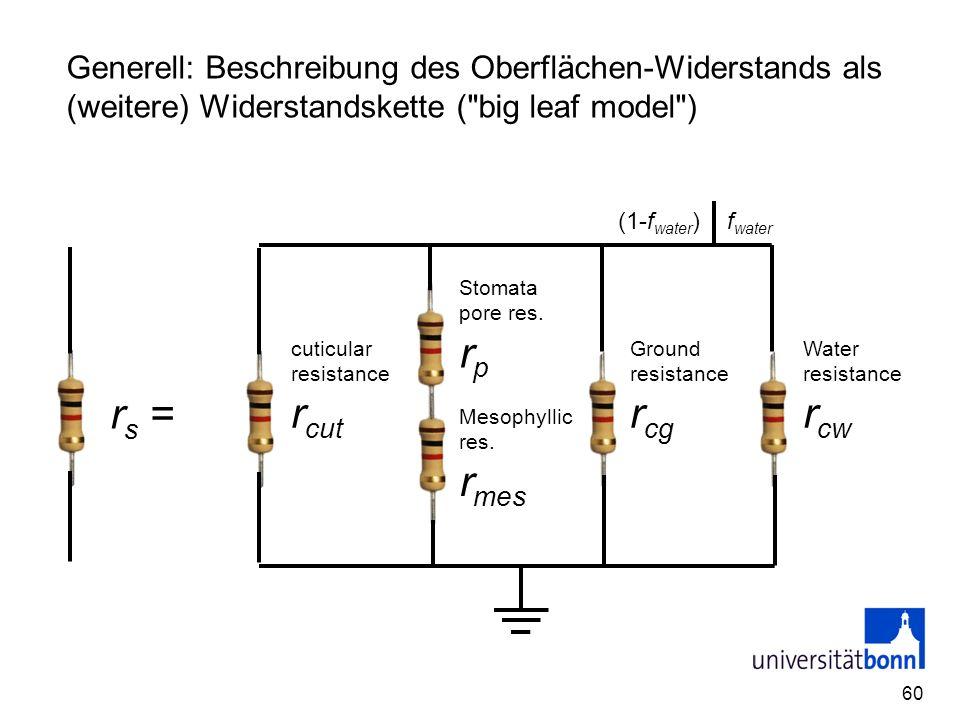 60 Generell: Beschreibung des Oberflächen-Widerstands als (weitere) Widerstandskette (