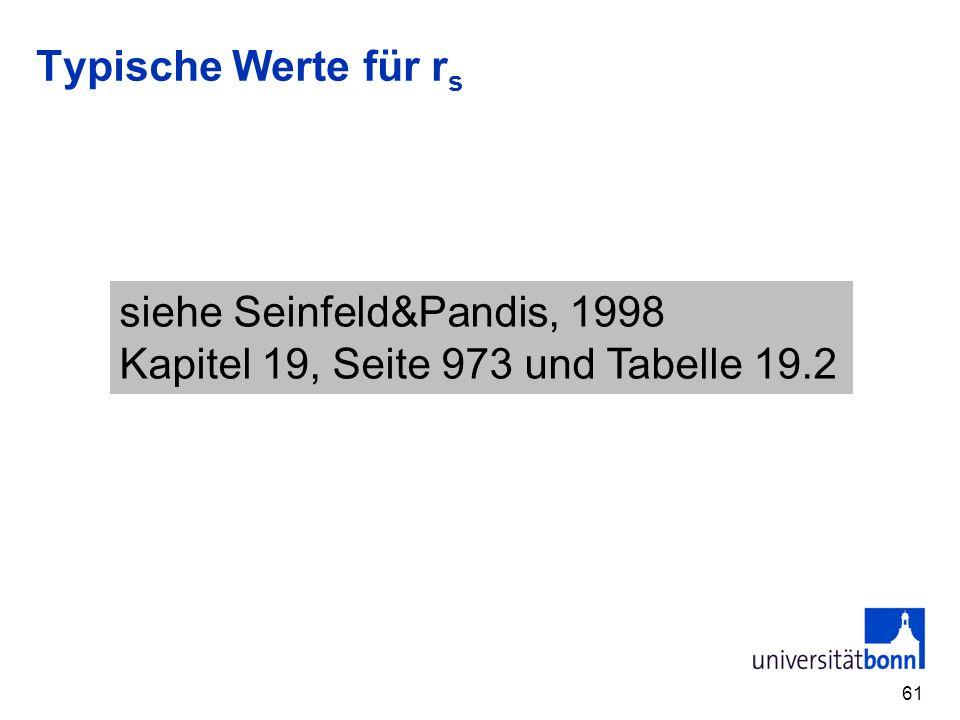 Typische Werte für r s 61 siehe Seinfeld&Pandis, 1998 Kapitel 19, Seite 973 und Tabelle 19.2