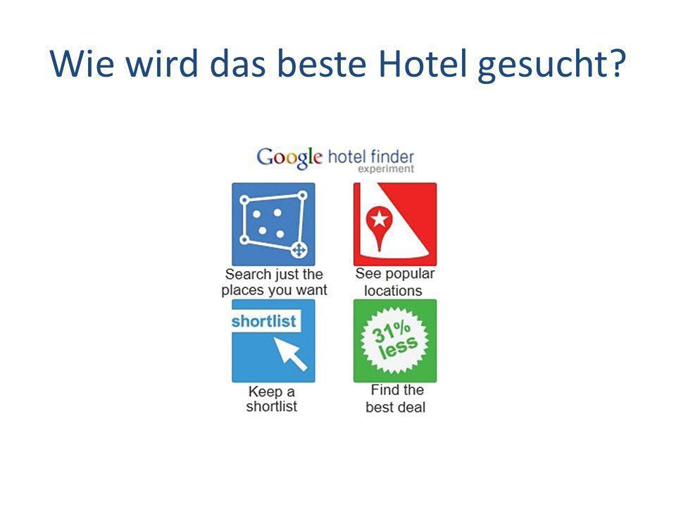 Wie wird das beste Hotel gesucht