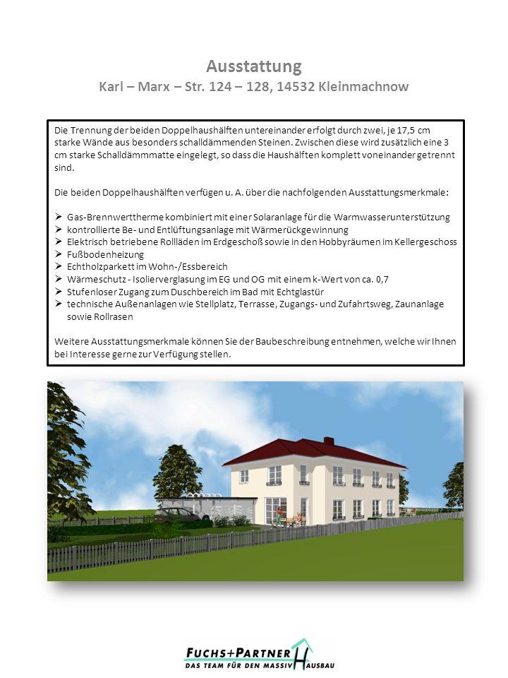 Grundstücksübersicht Karl – Marx – Str.124 – 128, 14532 Kleinmachnow GrundstückGröße ca.