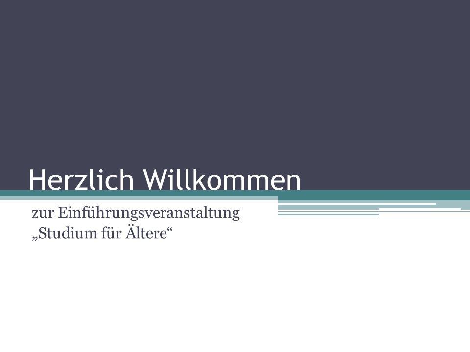 Studium für Ältere Hochschulbeauftragter 2007 bis 2012 Prof.