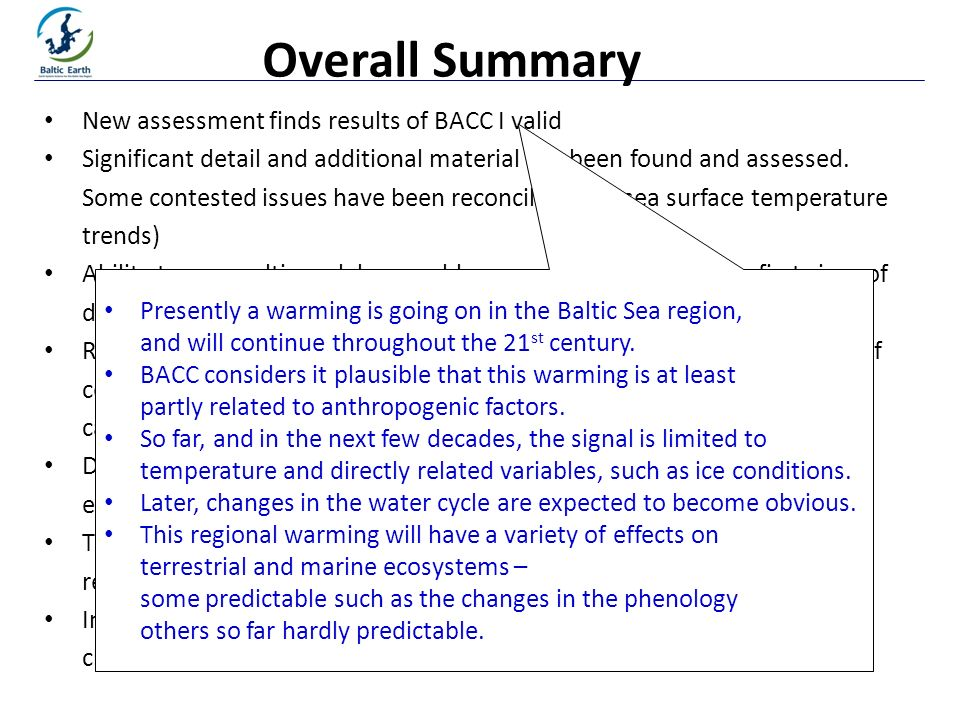 Printed at New assessment finds results of BACC I valid Significant detail and additional material has been found and assessed.