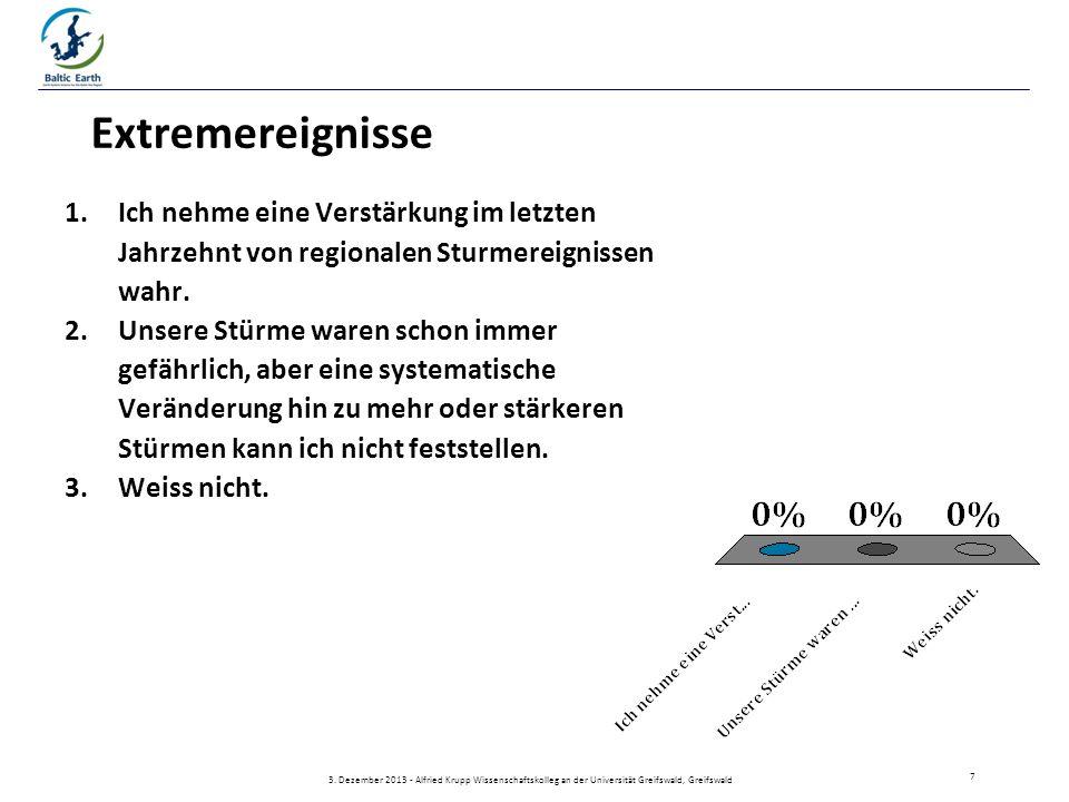Extremereignisse 1.Ich nehme eine Verstärkung im letzten Jahrzehnt von regionalen Sturmereignissen wahr.