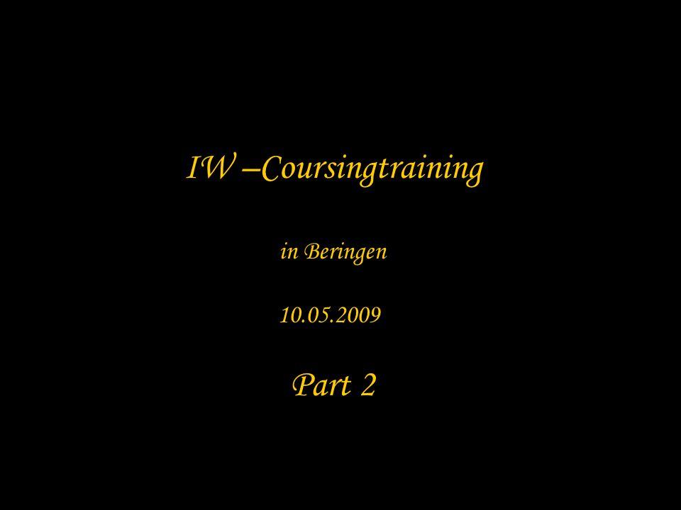 IW –Coursingtraining in Beringen 10.05.2009 Part 2