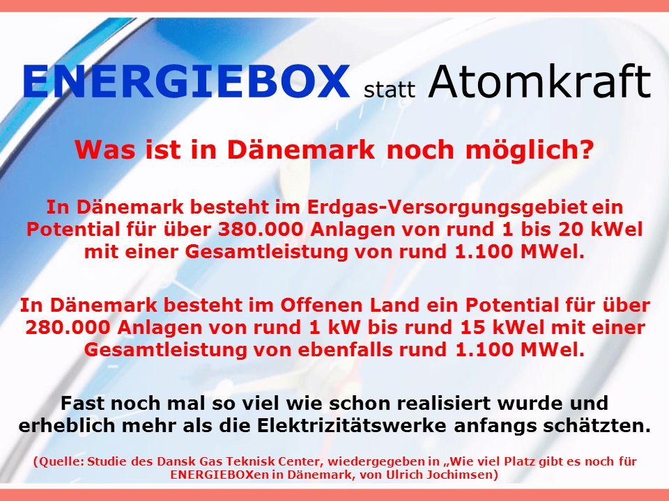 ENERGIEBOX statt Atomkraft Was ist in Dänemark noch möglich.