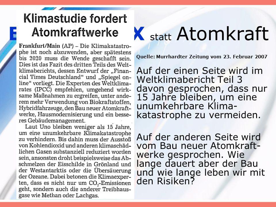 ENERGIEBOX statt Atomkraft Die Weltklimabericht fordert auch: Hausmodernisierung und ein besseres Gebäude- management.