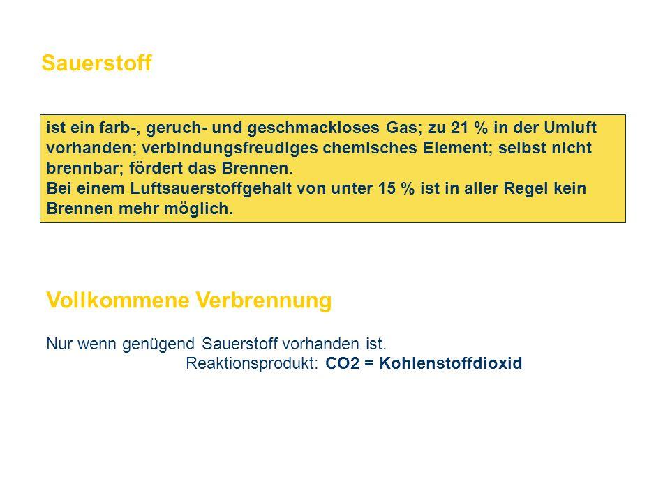OBM Stefan Schiavulli www.ff-blofeld.de Ausbildung Feuerwehr Blofeld Folie 12 Sauerstoff ist ein farb-, geruch- und geschmackloses Gas; zu 21 % in der