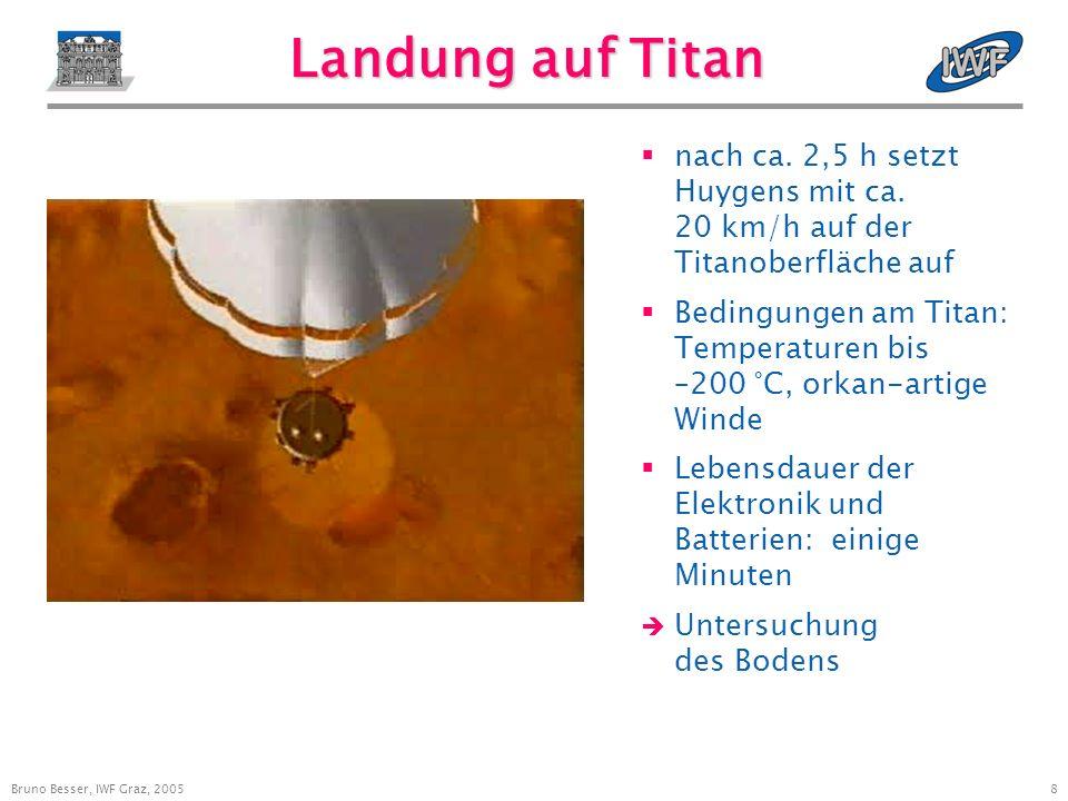 8 Landung auf Titan nach ca. 2,5 h setzt Huygens mit ca.