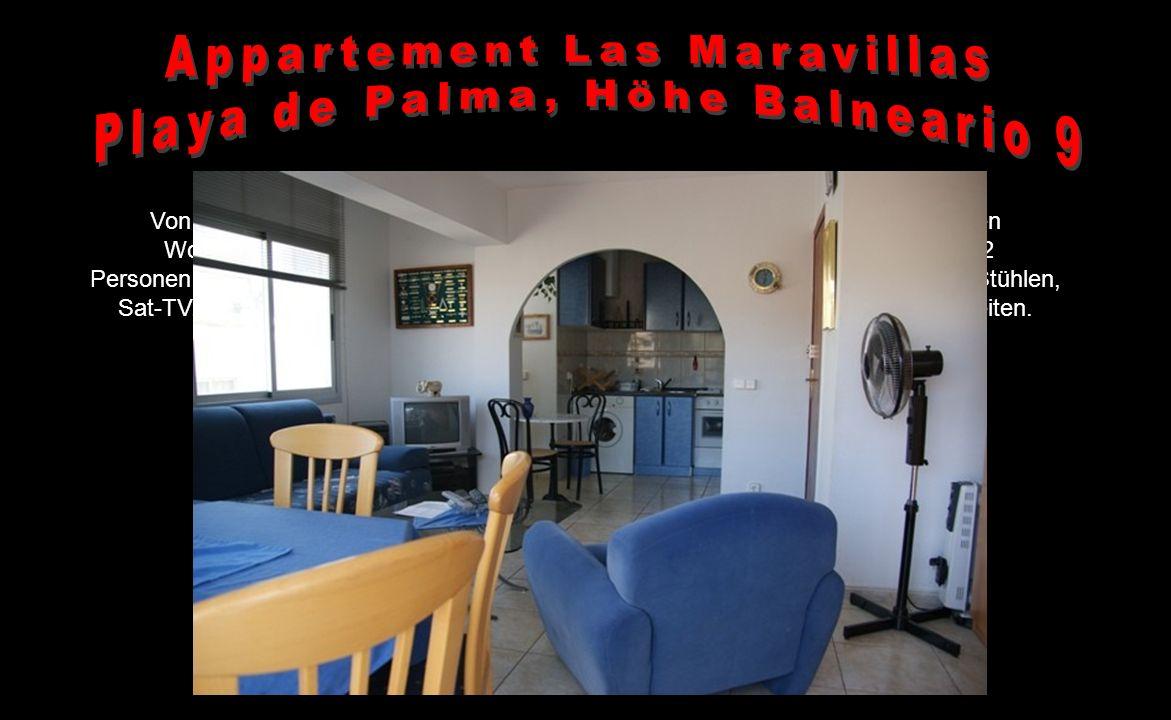Im Eingangsbereich des Appartements befindet sich rechts die voll ausgestattete Küche und verfügt unter anderem über eine Kühl-/ Gefrierkombination, H