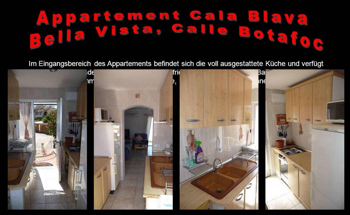 Das Appartement liegt in der Bella Vista, einer sehr ruhigen Urbanisation, nur ca. 150 Meter von der Kies-/Felsbucht Cala Blava entfernt, die Sie über