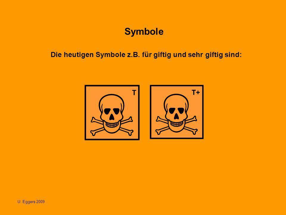 U. Eggers 2009 Symbole Die heutigen Symbole z.B. für giftig und sehr giftig sind: