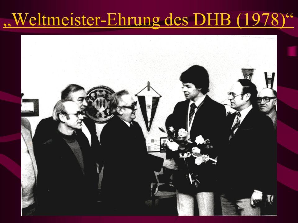 Mit Trainer Werner Hürter...