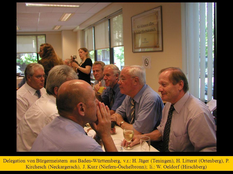 Delegation von Bürgermeistern aus Baden-Württemberg, v.r.: H.