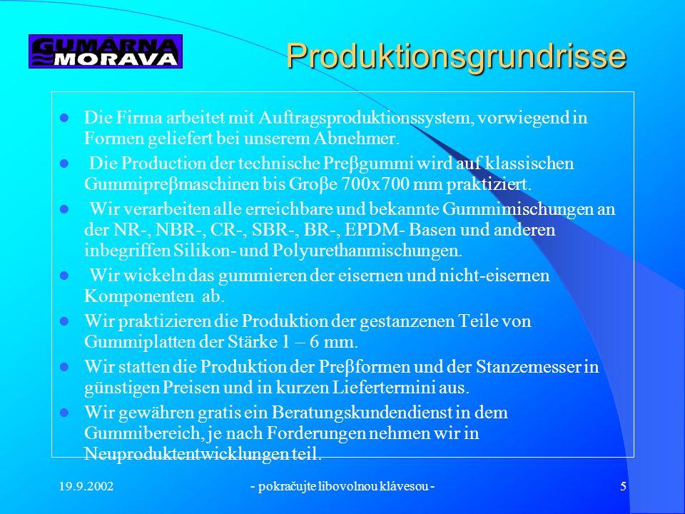 19.9.2002- pokračujte libovolnou klávesou -4 Die Materialvorbereitung