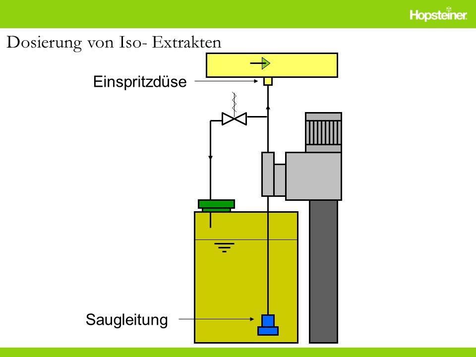 Einspritzdüse Saugleitung Dosierung von Iso- Extrakten