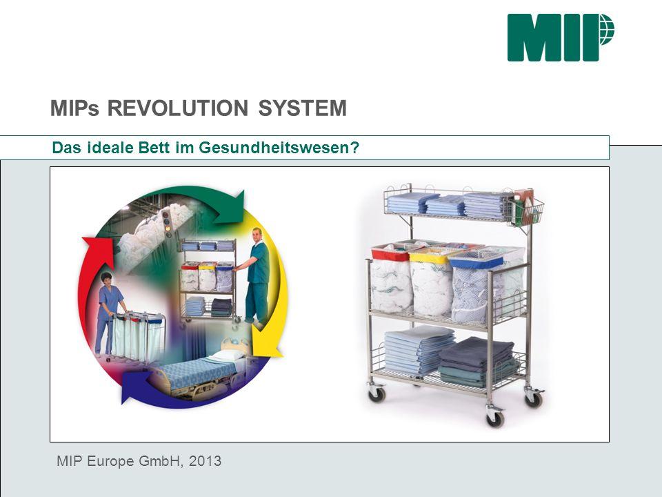 MIPs REVOLUTION SYSTEM MIP Europe GmbH, 2013 Das ideale Bett im Gesundheitswesen?