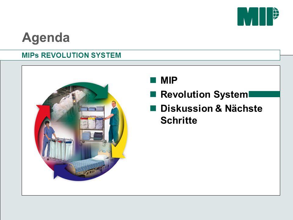 MIPs REVOLUTION SYSTEM (RLS) Eine Komplettlösung für Textilien und Distributionssysteme RLS bietet: Deutlich effizientere Waschprozesse, geringere Aufbereitungskosten Kein Bedarf mehr für Mangeln Vorteile für die Pflegekräfte Höhere Pflegequalität und gesteigerten Patientenkomfort RLS beinhaltet: Innovative, mangelfreie Textilien rund ums Bett Stations-Wäschewagen und Schmutzwäsche-Sammler Also: Ein komplettes System