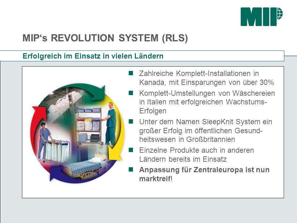 MIPs REVOLUTION SYSTEM (RLS) Erfolgreich im Einsatz in vielen Ländern Zahlreiche Komplett-Installationen in Kanada, mit Einsparungen von über 30% Komp