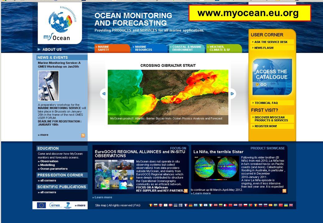 25.01.2012GMES-Regionalkonferenz - MyOcean, S. Dick 13 Wie komme ich an MyOcean Dienste und Produkte? www.myocean.eu.org
