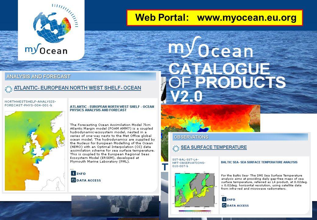 25.01.2012GMES-Regionalkonferenz - MyOcean, S. Dick 26 Wie komme ich an MyOcean Dienste und Produkte? Web Portal: www.myocean.eu.org