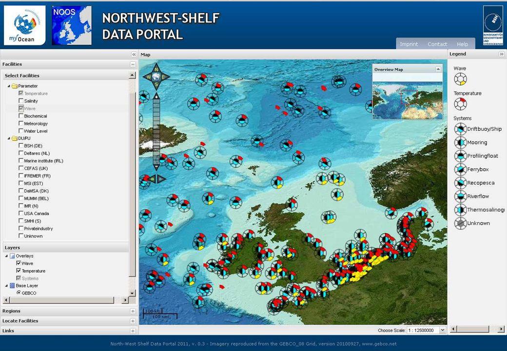 25.01.2012GMES-Regionalkonferenz - MyOcean, S. Dick 9 Für jede Region sind integrierte Datensätze (alle Produkte in einheitlichem Format) verfügbar (V