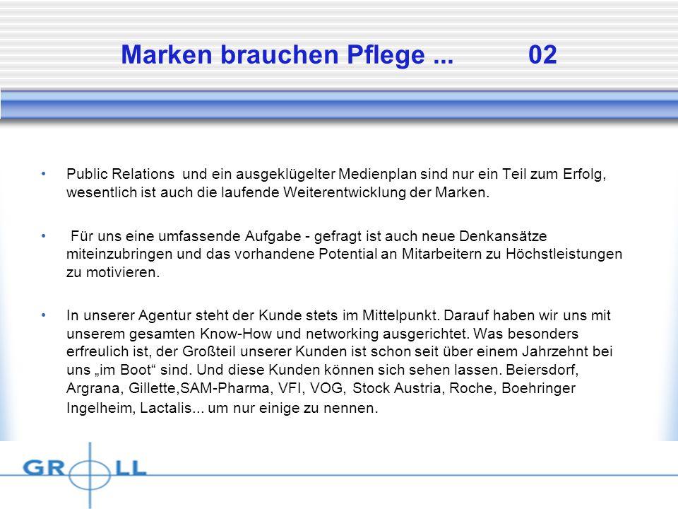 Dienstag, 15.April 2014 Marken brauchen Pflege...