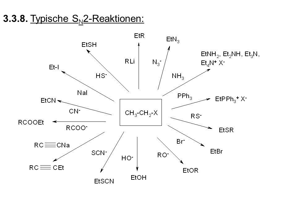 3.3.8. Typische S N 2-Reaktionen: