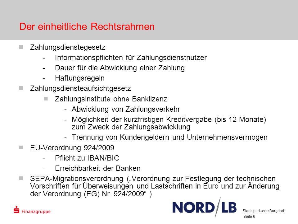 Seite 7 SEPA-Migrationsverordnung (1) Die nationalen Zahlverfahren in Euro sind grundsätzlich zum 1.