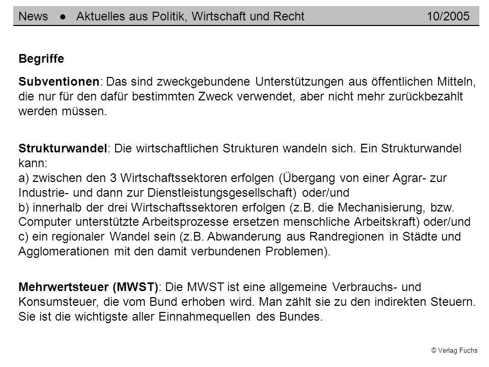 © Verlag Fuchs Subventionen: Das sind zweckgebundene Unterstützungen aus öffentlichen Mitteln, die nur für den dafür bestimmten Zweck verwendet, aber