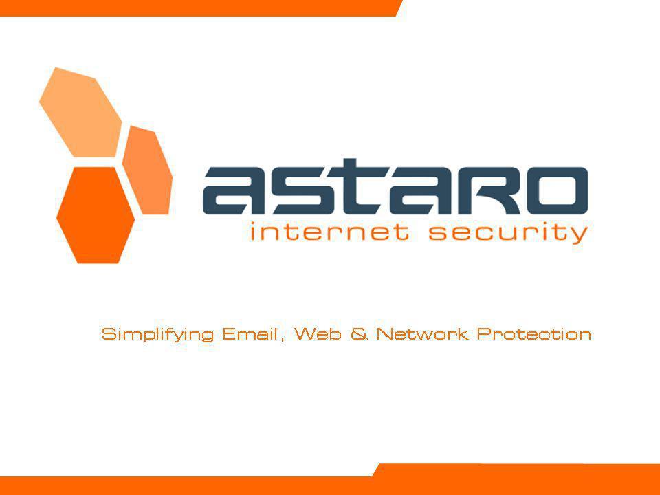 Astaro Overview – Page 22 © Astaro 2009 Astaro Security Gateway Unterscheidungsmerkmale Umfassender Email-, Web- und Netzwerk-Schutz der Enterprise- Klasse designed für KMUs : IPsec, SSL, PPTP und L2TP VPN-Support auf allen Appliances One-Click SSL VPN mit unbegrenzter Anzahl kostenloser Clients Duale Antivirus Engines scannen unabhängig SMTP, POP3, HTTP, HTTPS und FTP-Daten Umfassender Satz von Enterprise-Technologien zur Spamerkennung inklusive dem patentierten Reputation based Filtering Transparente Email-Verschlüsselung (TLS, S/MIME, OpenPGP) Granulare Regeln für URL-Zugangskontrolle mit Unterstützung von eDirectory & Active Directory SSO Nutzerbasierte IM/P2P-Kontrolle, inklusive Blockierung von Skype