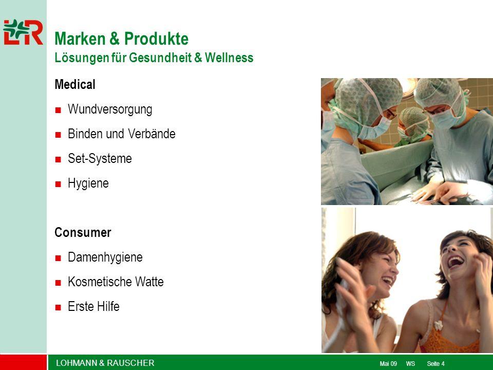 LOHMANN & RAUSCHER Mai 09 WS Seite 4 Marken & Produkte Lösungen für Gesundheit & Wellness Medical Wundversorgung Binden und Verbände Set-Systeme Hygie
