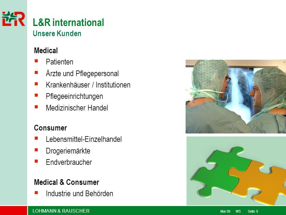 LOHMANN & RAUSCHER Mai 09 WS Seite 9 Medical Patienten Ärzte und Pflegepersonal Krankenhäuser / Institutionen Pflegeeinrichtungen Medizinischer Handel
