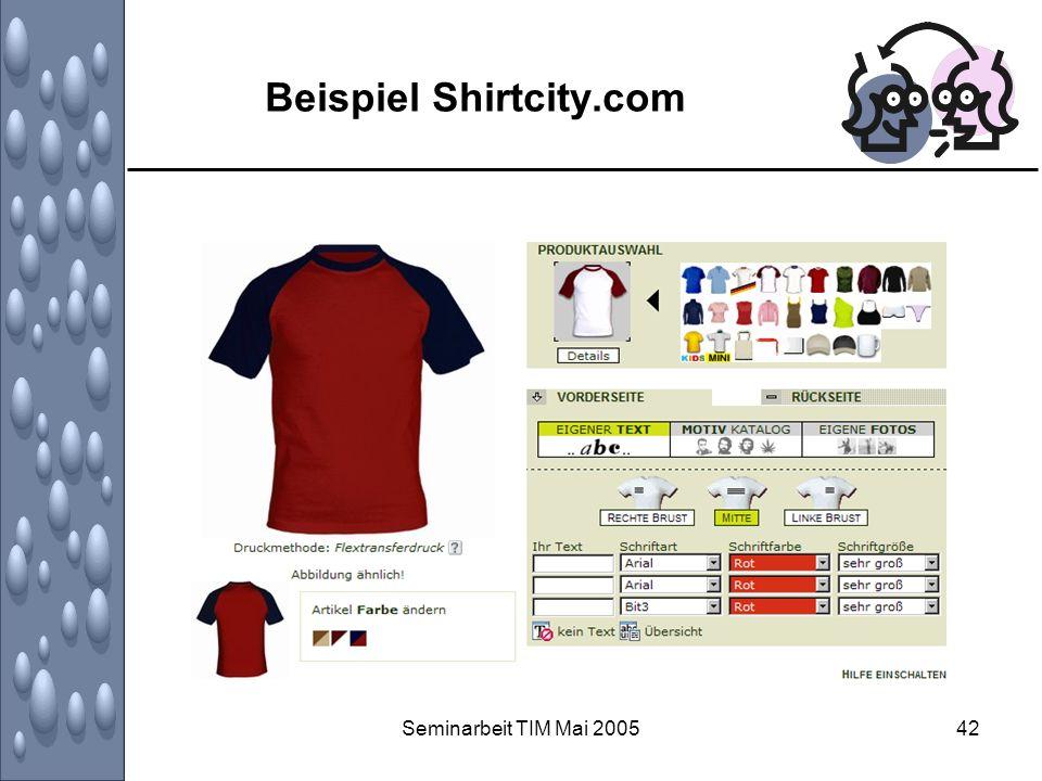 Seminarbeit TIM Mai 200542 Beispiel Shirtcity.com