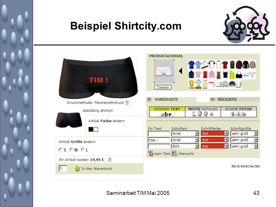 Seminarbeit TIM Mai 200543 Beispiel Shirtcity.com